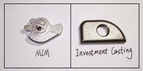 MIM vs. Investment Casting